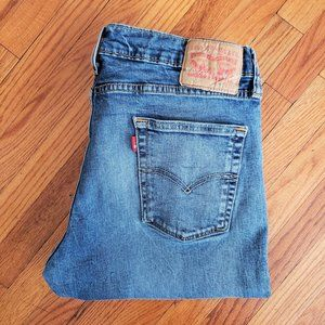 Levi's 514 Straight Leg Distressed Knee Jeans